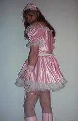 Pink maid (Felicia Colette) Tags: pink lace cd gloves sissy transvestite satin crossdresser prissy sissymaid tgurl
