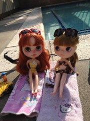 Hanging out by the pool