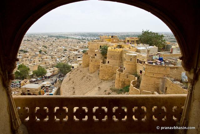Sonar Kila From A Jharokha, Jaisalmer