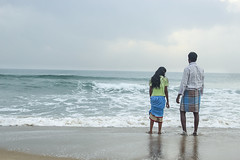 (prithivi2686) Tags: sea portrait sky india color love beach canon landscape waves village child childrens fatheranddaughter pondicherry cwc incredibleindia indiaimages chennaiweekendclickers