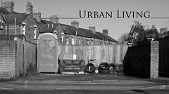 Urban Living (Reckless Times) Tags: life urban white black mono living blackwhite nikon decay toilet sofa oxford rubbish tyre rundown