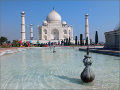 The Jewell of India (jo92photos) Tags: india fountain taj marble week7 thetajmahal ©allrightsreserved jo92photos hs20exr 522014 522014week7 jewellofindia