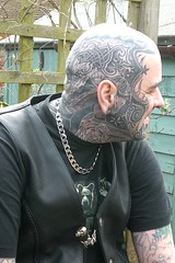 Cheeks - Polynesian-Maori Spirals; RH Side-Bear; Mariner's Stars to Temples (Bear & Rabbit (formerly BC&IKB)) Tags: leather tattoo tribal celtic moko knotwork bearhead facetattoo leatherbear beartattoo necktattoo scalptattoo headtattoo throattattoo facialtattoo bearshead tattooedneck blackngrey tattooedbear tattooedscalp chintattoo tattoobear suffolktattoo uktattoo tattooedchin bearthroattattoo tattooedthroat inkedinuk tattooedintheuk tattooedleatherbear tattooedleatherman