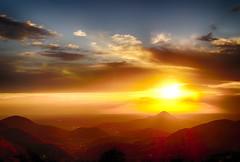Colli Euganei al Tramonto (tampurio) Tags: light sunset sky italy sun sunlight tree primavera sunrise spring italia tramonto nuvole sony hill hills cielo ita tramonti sole cluds colline padova veneto collieuganei colli slta58
