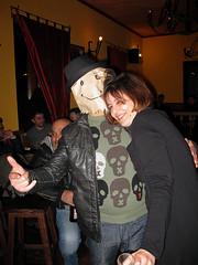 yea! (tonitonim) Tags: party people beer girl smile face bar trash women sardinia mask drink outsider alien kultur performance alcohol carnevale birra smorfie diavoletto nuoro tonitonim
