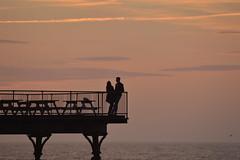 Aberystwyth - The peir. (W@ynes world) Tags: uk sunset sun love beach water silhouette wales evening nikon warmth aberystwyth peir powys midwales d3200