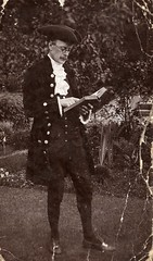 Worsley Pageant - Mr Berkley in the Pageant (Chetham's Library) Tags: reading costume historic fancydress worsleypageant