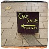 CAKE SALE THIS WAY (Leo Reynolds) Tags: xleol30x iphoneography iphone 4s iphone4s hipstamatic flickriosapp:filter=nofilter uploaded:by=flickrmobile arrow grouphipstamatic 0sec oggl groupiphone hpexif xxgeotaggedxx sign xx2014xx