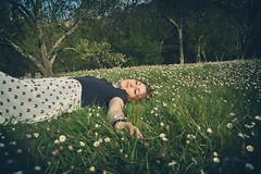 .Sweet Dreams. (Veronica Regan) Tags: nature girl daisies garden