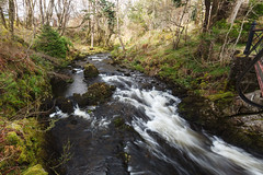 Abhainn Cille Mhaire (rvanr) Tags: blur tree water river waterfall moss stream fast flowing