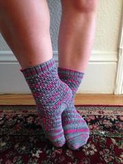 finished object: Pink Pop socks