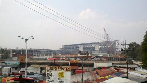 Construcción de la Arena Ciudad de México