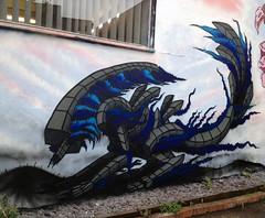 Alien (andy council) Tags: trees houses art andy bristol mural paint alien scifi council spraypaint hrgiger andycouncil