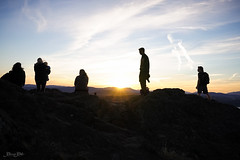 Setting Sun (Carrie Cole Photography) Tags: sunset summer people canada mountains silhouette zeiss bc victoria vancouverisland mountdouglas yyj pkols sonya7 carriecole fe1635z