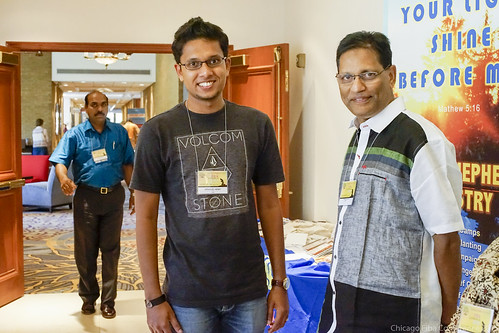Immanuel Henry with Varghese Mathai