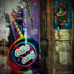 Cotton Candy (Karen Kleis) Tags: arteffects digitalart photomanipulation sweets candy shopfront winterpark parkavenue texture