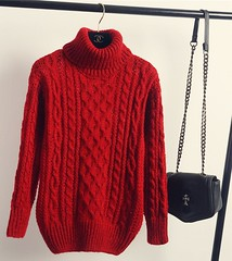Red hot sexy aranstyle turtleneck (Mytwist) Tags: winter autumn vintage turtleneck cable knitted fisherman sweater loose fit colors chompas mujer pull femme hiver 2015 chandail wool style fashion passion fetish woolfetish wolle mytwist rollneck rollkragen retro rollerneck aran aranstyle aranjumper aransweater authentic heritage casual weekend exclusive
