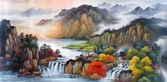 Autumn Colors in the Jiangxi Valley, Art Painting / Oil Painting For Sale - Arteet™ (arteetgallery) Tags: arteet oil paintings canvas art artwork fine arts waterfall river water rock stream landscape stone forest outdoor mountain environment cascade creek fall wild travel natural tree flowing summer falls splash spring flow rocks motion waterfalls peaceful wet scenery tourism scenic outdoors ecology tranquil moss fresh serene wilderness leaf falling lake stones sunlight clean peace season grass trees landscapes oriental mountains brown white