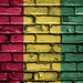 National Flag of Guinea on a Brick Wall