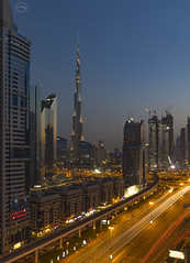 Dubai Downtown (nasserdoss) Tags: canon uae dubai mydubai dubaidowntown downtown mycity city tower towers burj burjkhalifa tallestbuldingintheworld sunset blue bluehour sky skyview super 5dmarkiv 5d love cityscape citylight dubaimall atthetop hotel photograph photographer photo photooftheday dusit