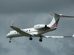 GULFSTREAM GV-SP (G550) CS-DKI (BIKEPILOT) Tags: airport aircraft aviation aeroplane farnborough airfield aerodrome eglf csdki gulfstreamgvspg550