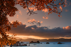 sand harbor sunset (Marc Crumpler (Ilikethenight)) Tags: autumn trees sunset usa mountains water clouds canon reflections landscape golden afternoon fallcolor nevada lakes sierras sandharbor tamron1750 40d canon40d ilikethenight marccrumpler