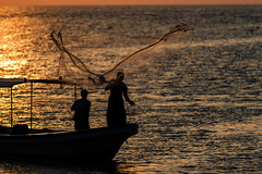 Sunset Fishermen II (mhalali) Tags: sunset sea fishing redsea sunsets saudi saudiarabia canon7d