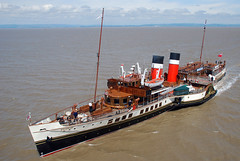 PS Waverley arriving at Clevedon Pier (ianmurray) Tags: paddle steamer waverley clevedon dsd4421