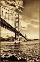 Vintage Golden Gate Bridge (MyRidgebacks - Sharon C Johnson) Tags: goldengatebridge sanfranciscobay northernca worldicon myridgebacksphotography mygearandme mygearandmepremium mygearandmebronze mygearandmesilver mygearandmegold mygearandmeplatinum