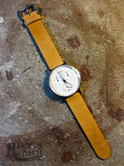 Leather Craft - Watch strap (Marius Mellebye / 276ccm) Tags: clock leather time watch strap rem klokke georgjensen watchstrap leathercraft klokkereim clockstart klokkerem
