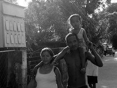 pinoy family (.emong) Tags: street family people bw monochrome sanantonio lumix philippines documentary panasonic zambales lx3