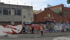 Willy Wiper.  Now and Then. (philipgmayer) Tags: willywiper beaufortstreet toxteth liverpool graffiti streetart 1000