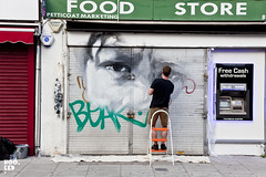 Guido Van Helten (Hookedblog) Tags: street streetart london art photography mural unitedkingdom belllane hookedblog guidovanhelten photo©markrigney