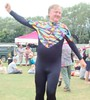 Dressing Up 5 : Lycra Man Dancing (brightondj - getting the most from a cheap compact) Tags: summer england music festival tights clothes dressingup tight wiltshire tackle musicfestival lycra bulge folkfestival westbury wessex trowbridge lycraman trowbridgevillagepumpfestival2013