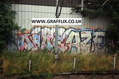 Droe, Aze - Plaistow (www.grafflix.co.uk) (Grafflix.co.uk) Tags: graffiti add illegal np graff trackside plaistow fys aze droe