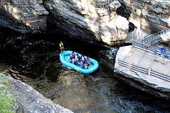 Rafting the River (Denzil D) Tags: newyork water scenic tourist cliffs rafting canoneosrebelt2i ausablechasmriver