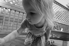 Untitled (Zozo's Photos) Tags: blackandwhite bw kids zoe whimsy nikon sigma wideangle deck 1020mm whimsical uwa sigma1020mm ultrawideangle d7000 nikond7000