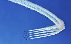 Red Arrows at Clacton Airshow (Ken & Rose Farge 500k+ views. Thank you) Tags: uk canon eos airshow essex clacton redarrows raf 60d