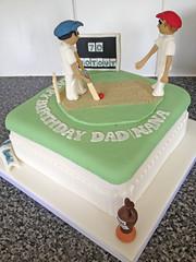 Cricket Fan Cake