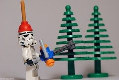 Lumberjack (LynG67) Tags: forest lego chainsaw stormtrooper minifigs plunger minifigures