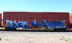 (o texano) Tags: austin bench graffiti texas trains alb sangre freights texer benching