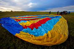 High River Balloon Festival (stevenbulman44) Tags: morning blue autumn red color fall field yellow basket ballon alberta highriver balloonrace mywinners impressedbeauty impressedbyyourbeauty flickrdiamond 1740f40l