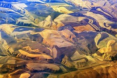 """""""Abstract Landscape"""" - Over Idaho, USA (TravelsWithDan) Tags: usa abstract landscape ngc fromabove hills idaho farms outtheairplanewindow worldtrekker"""
