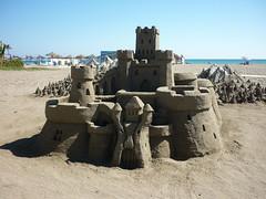 Torremolinos, château de sable
