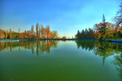 Mellat Park Lake in Autumn, Tehran, Iran (Persia) (eshare) Tags: blue autumn trees sky lake reflection tree fall pool landscape iran lakes gimp persia tehran ایران highdynamicrange teheran پارک ايران درخت تهران ملت mellatpark انعکاس درختان آسمان urbanparks دریاچه hdrfromasingleraw استخر طهران sal20f28 dynamicphotohdrsoftware dphdr دریاچهمصنوعی پارکملت sonyalpha20mmf28lens لنز20میلیمتریاف28سونی گیمپ sonyalphaa900 اچ‌دی‌آر اچدیآر sonyalphadslra900 mellatparklake sayehtower برجسایه سونیآلفاآ900