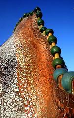 Roof of Casa Batlo, Barcelona (johnredney) Tags: barcelona roof building architecture spain gaudi cas batlo casabatlo