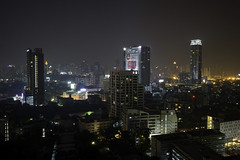 Another night view from 22nd floor of Pantip Suite, Bangkok, Thailand.