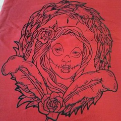 Tote bag - Diseo junto @ankhtattoo (Lady Crimen) Tags: street blue red wild food dog cute art love window nature colors fashion animals monster tattoo train ink hair square death skull graffiti design friend long paint cookie cross fierce turquoise grunge craft bull terrier ornament squareformat toll gore horror terror belle murder boxer vans passing cocker watercolors inverted chocolat artifice ilustracion ferocious skill savage mortality dispatch artistry demise murderous decease thinspo iphoneography instagramapp uploaded:by=instagram ladycrimen