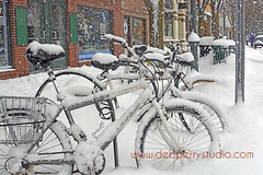 Hardy bikers (Deb Perry Studio) Tags: city travel winter vacation snow cold snowy michigan stock visit tourist stockphotos snowing traversecity stockphotography travelphotography traversecitymichigan downtowntraversecity debperry debperrystudio traversecityphotographer