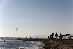 ada bojana beach (cyberjani) Tags: sea kite beach river ada adriatic montenegro bojana